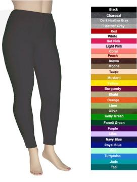 5da151b6ce3 Plus Size Cotton Spandex Leggings by Chen - Fashion Drive