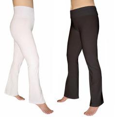 Women S Cotton Spandex Flare Yoga Pants By Emily Chen
